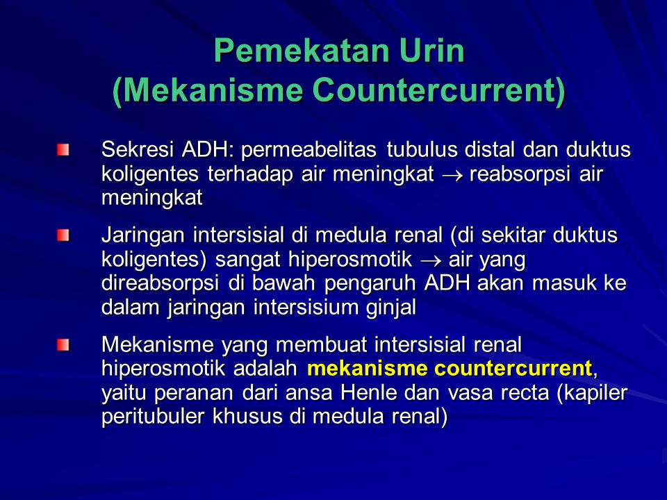 Pemekatan Urin (Mekanisme Countercurrent)