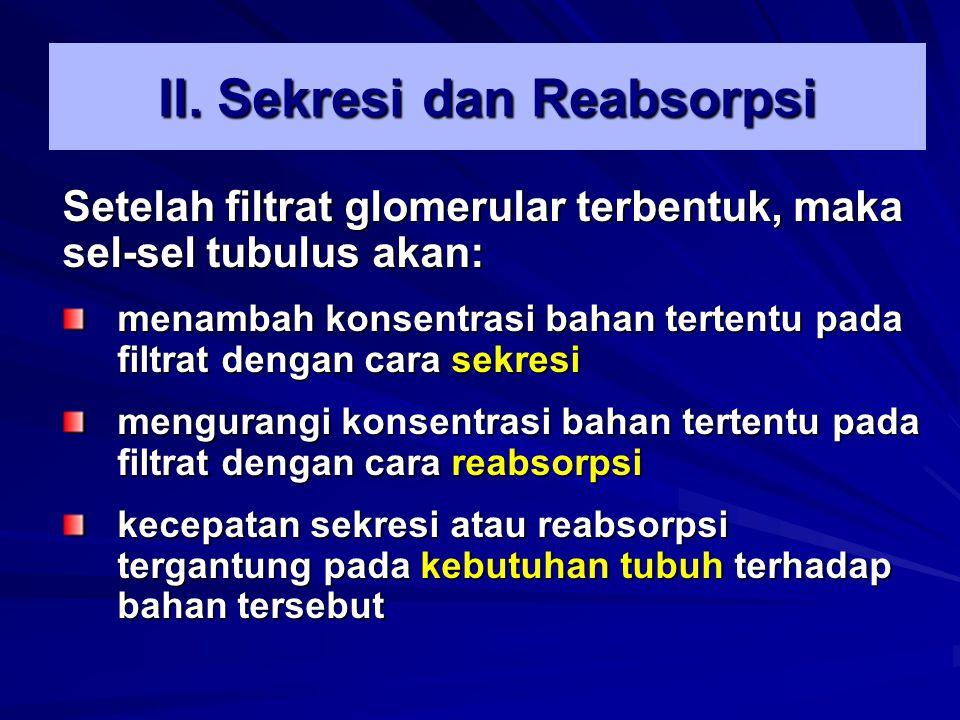 II. Sekresi dan Reabsorpsi