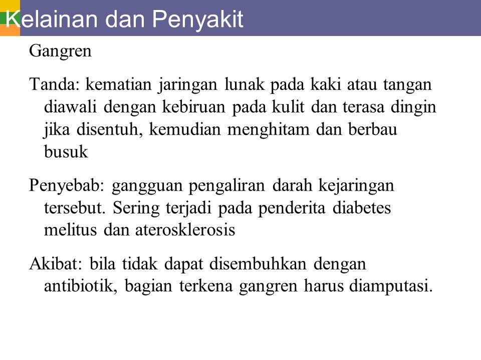 Kelainan dan Penyakit Gangren