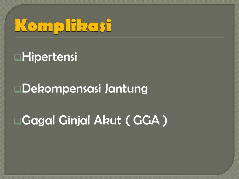 Komplikasi Hipertensi Dekompensasi Jantung Gagal Ginjal Akut ( GGA )