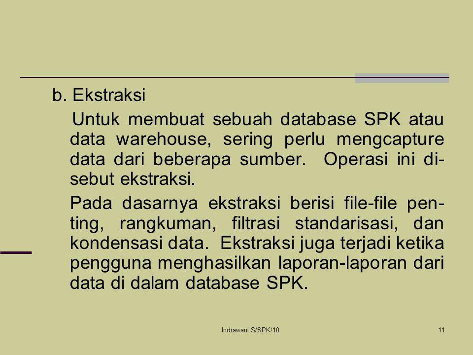 b. Ekstraksi