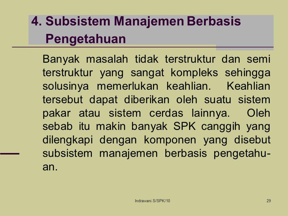 4. Subsistem Manajemen Berbasis Pengetahuan