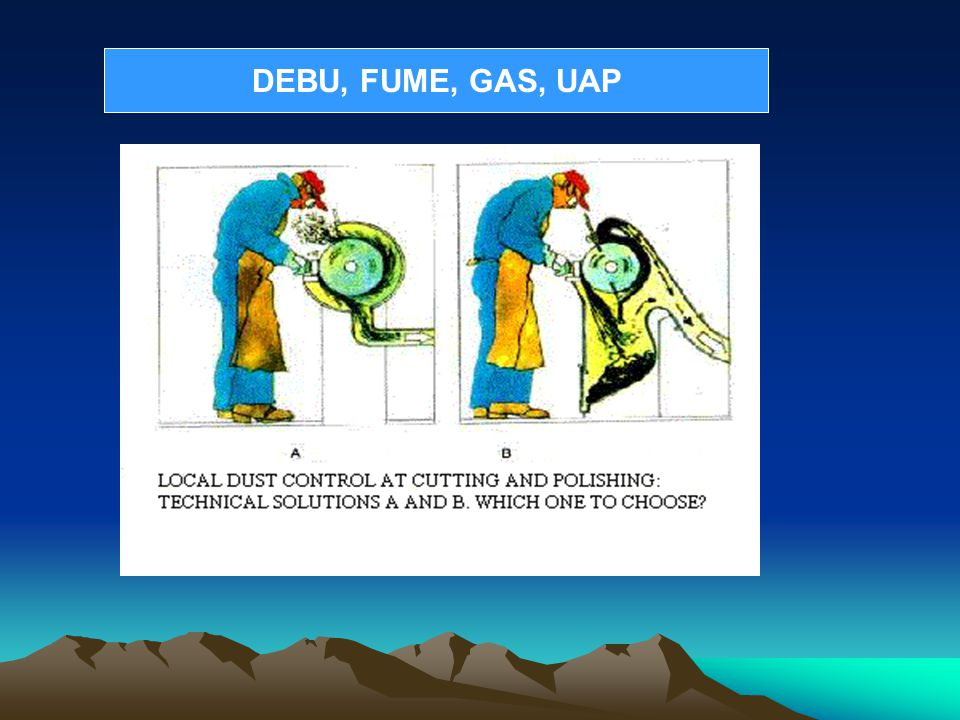 DEBU, FUME, GAS, UAP
