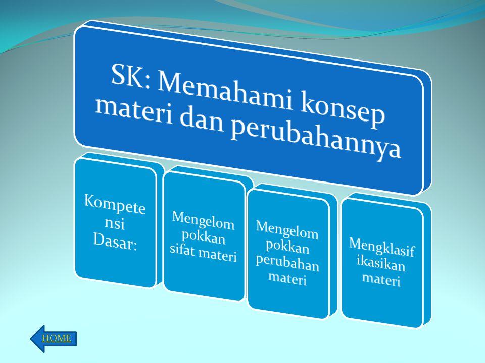 SK: Memahami konsep materi dan perubahannya