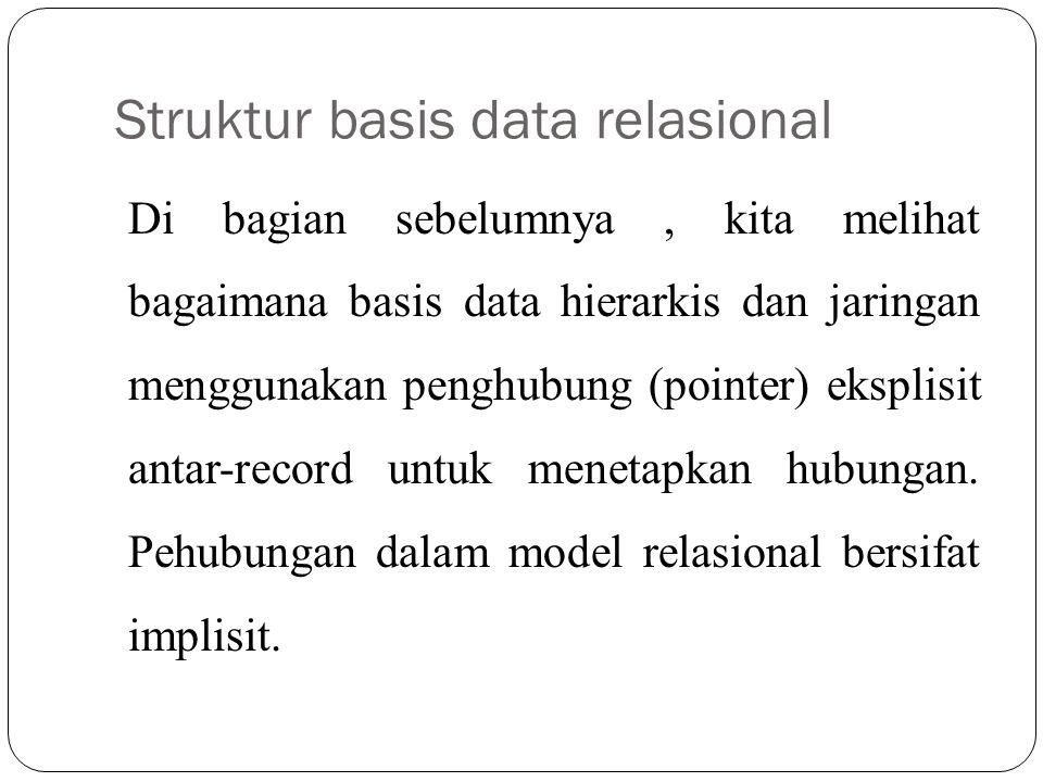 Struktur basis data relasional