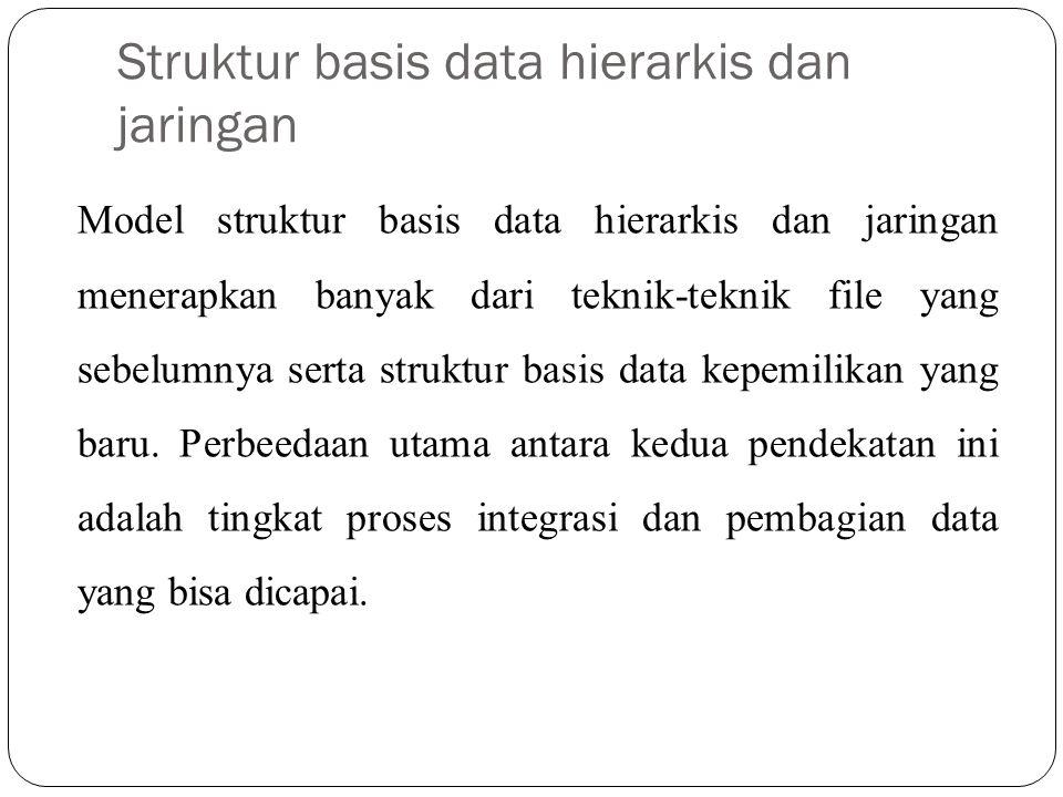 Struktur basis data hierarkis dan jaringan