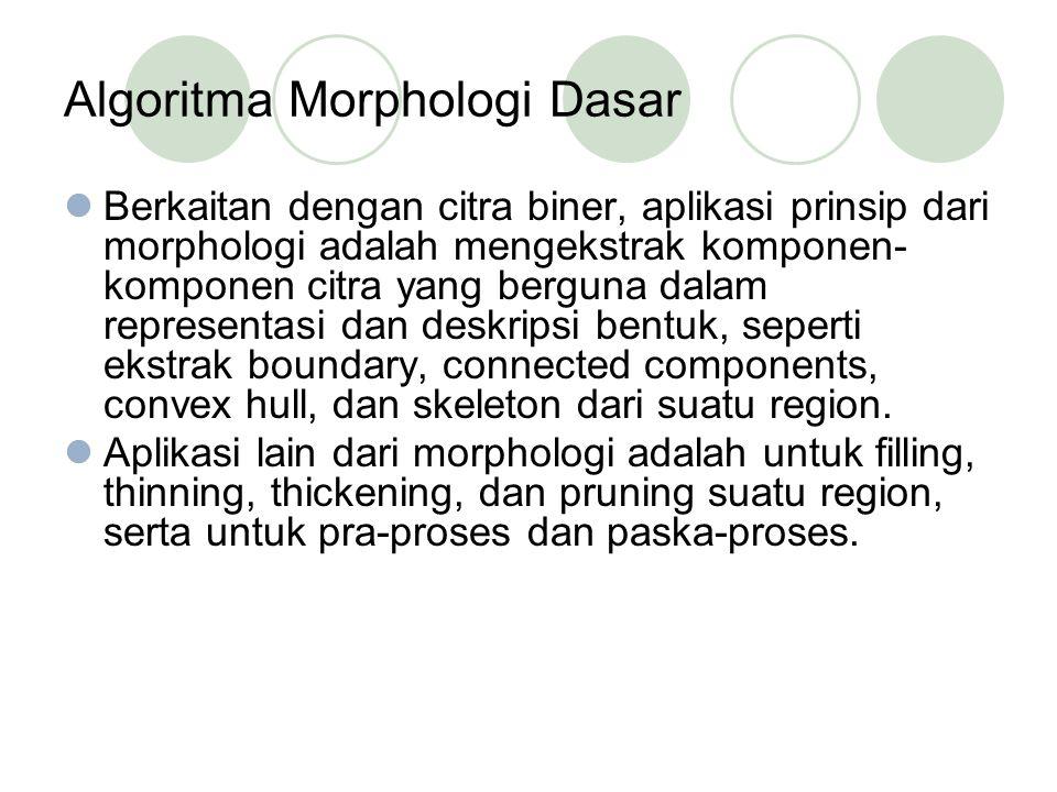 Algoritma Morphologi Dasar