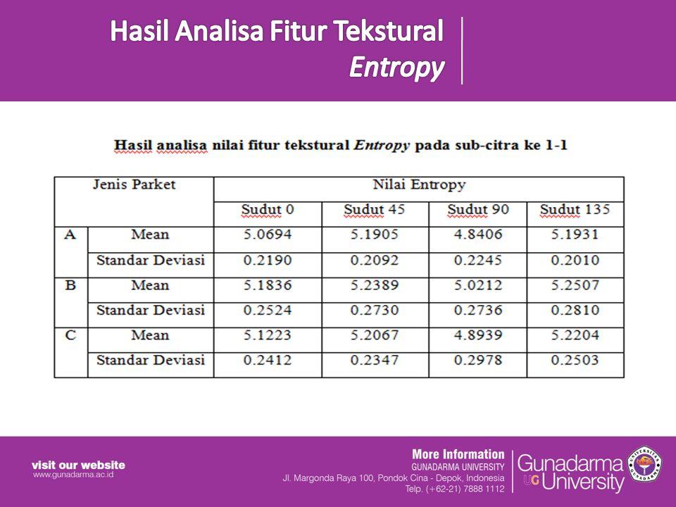 Hasil Analisa Fitur Tekstural Entropy