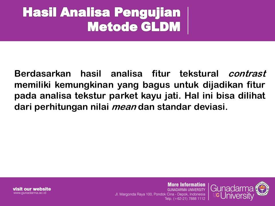 Hasil Analisa Pengujian Metode GLDM