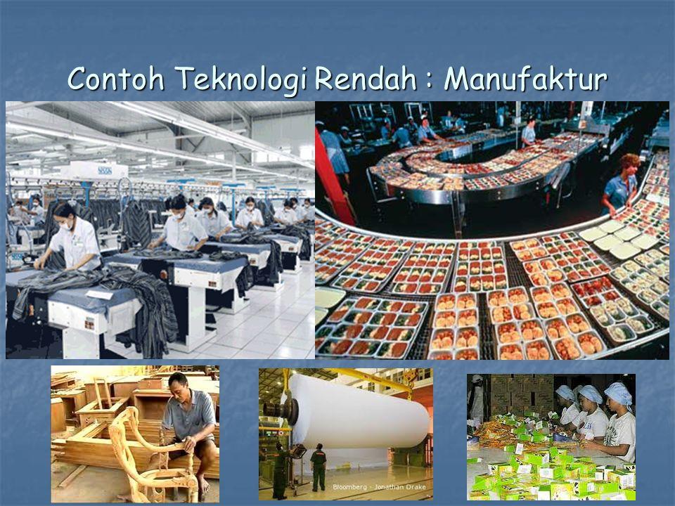 Contoh Teknologi Rendah : Manufaktur