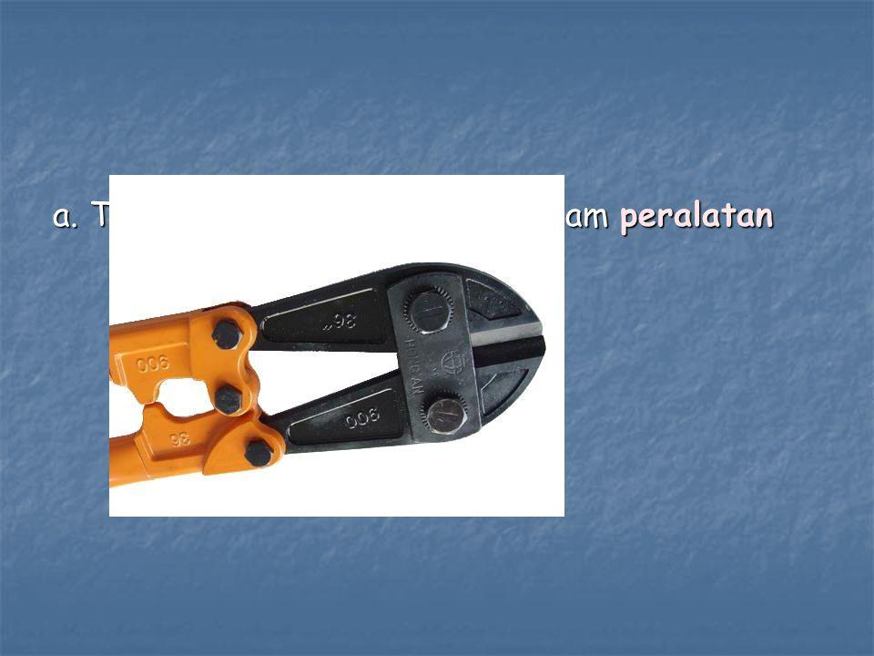 a. Teknologi yang terkandung dalam peralatan