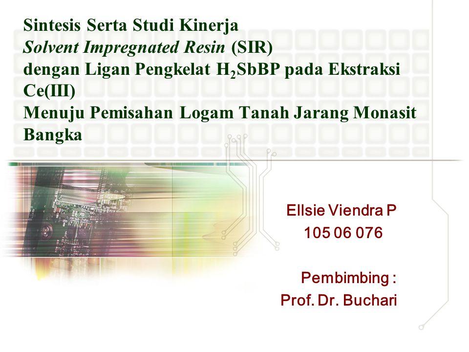 Ellsie Viendra P 105 06 076 Pembimbing : Prof. Dr. Buchari