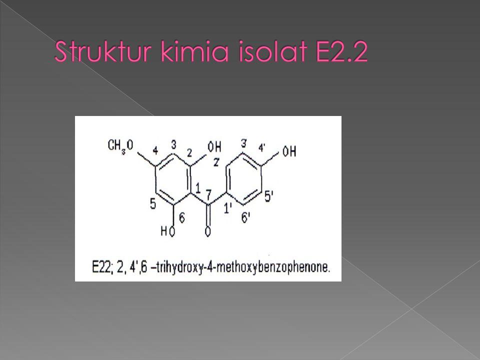 Struktur kimia isolat E2.2