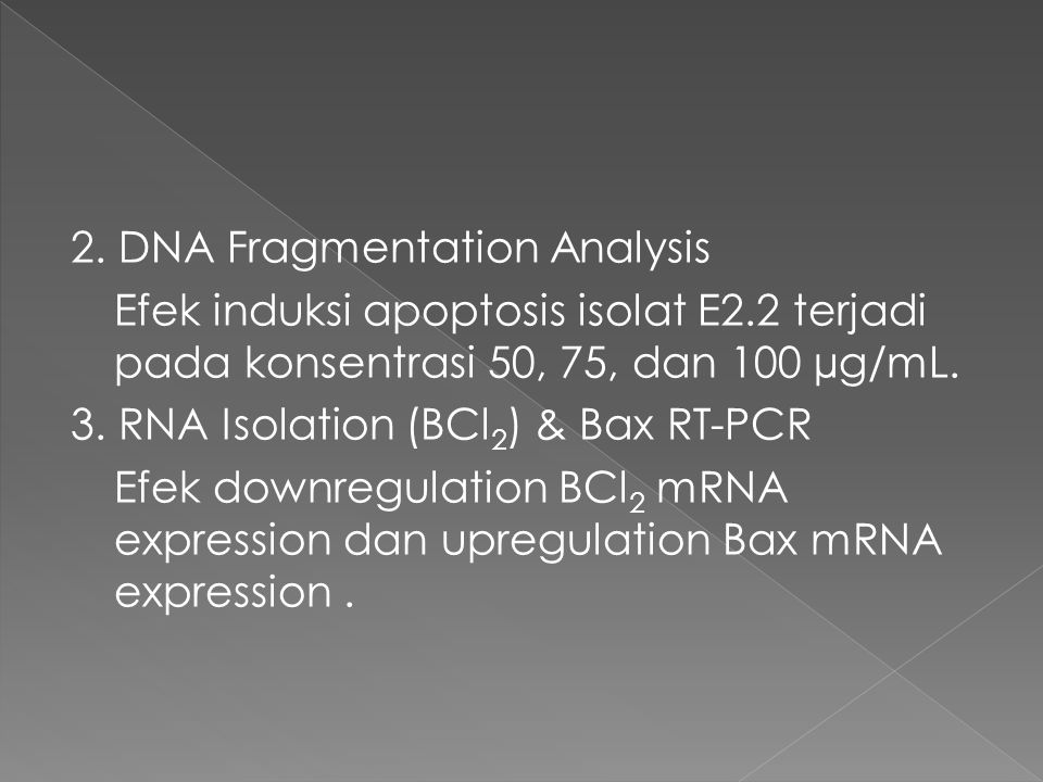 2. DNA Fragmentation Analysis