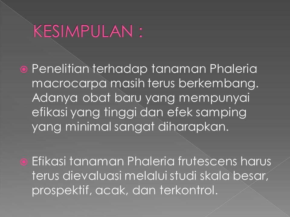 KESIMPULAN :