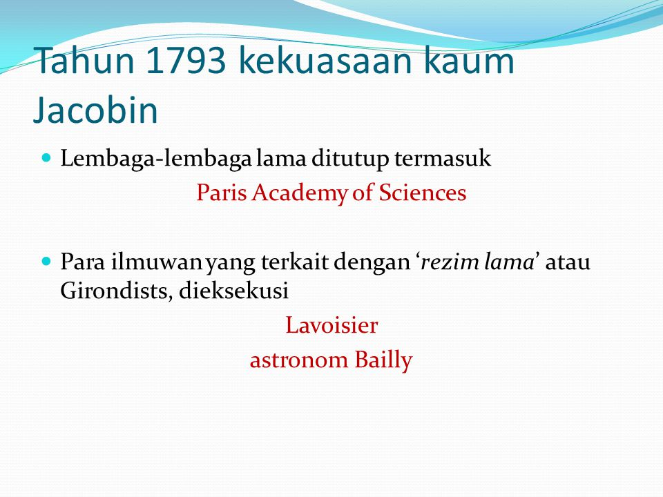 Tahun 1793 kekuasaan kaum Jacobin
