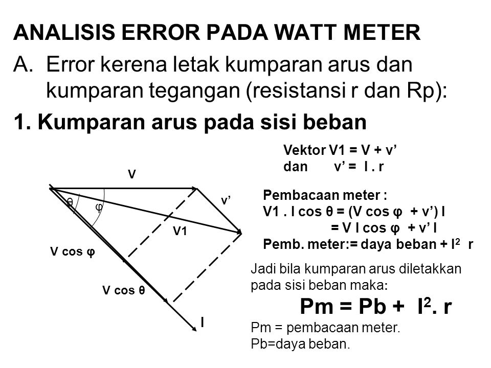 ANALISIS ERROR PADA WATT METER