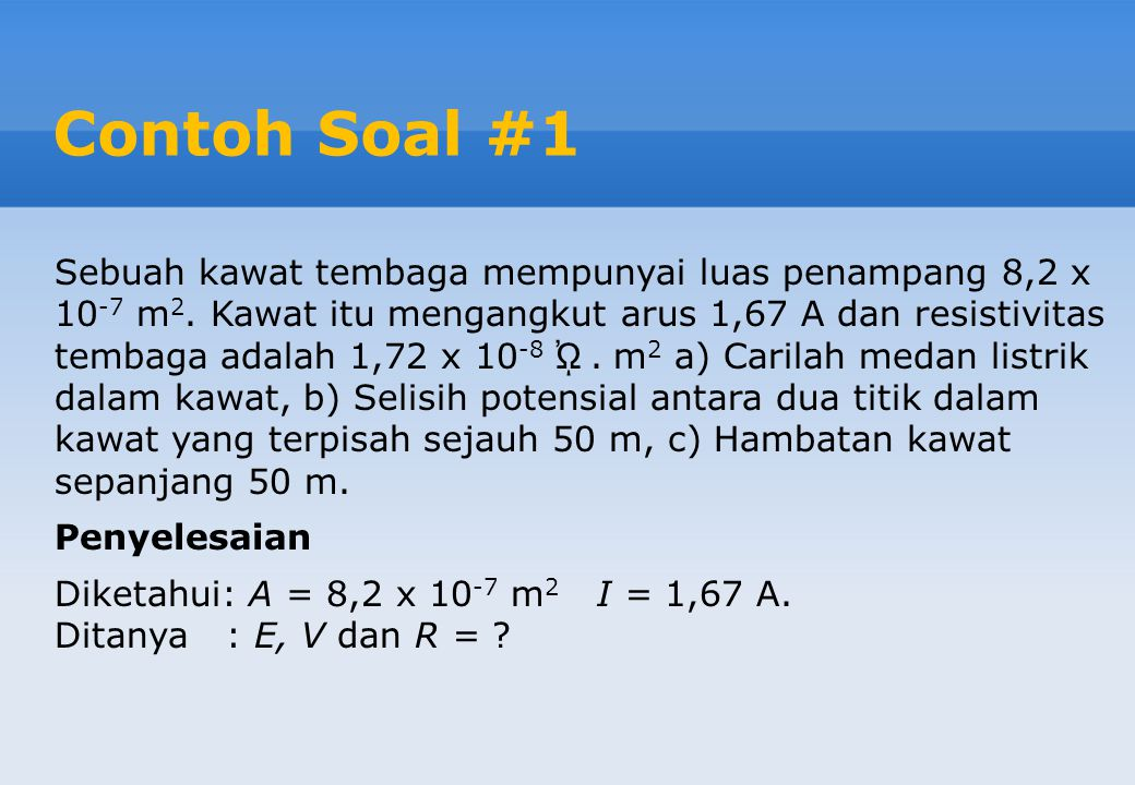 Contoh Soal #1