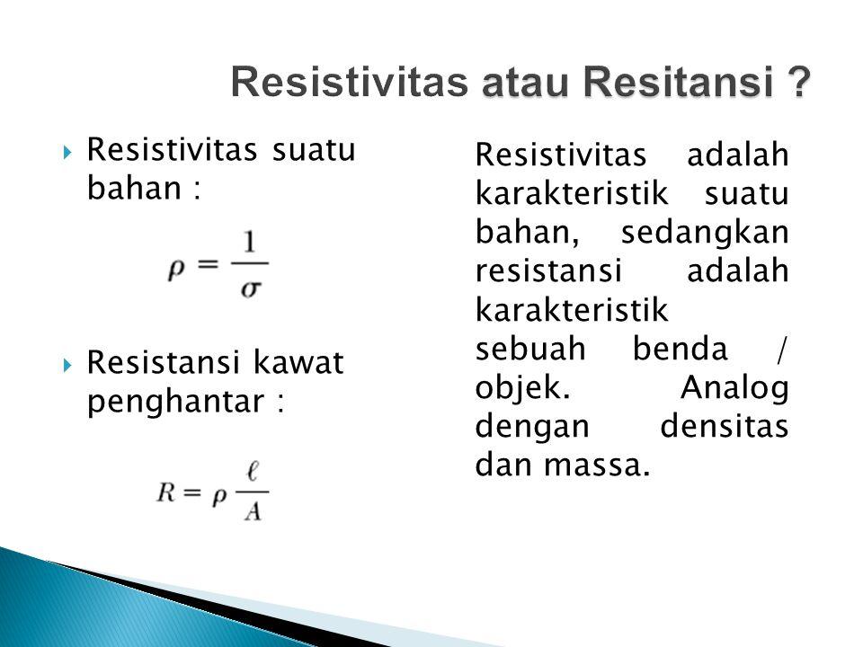 Resistivitas atau Resitansi