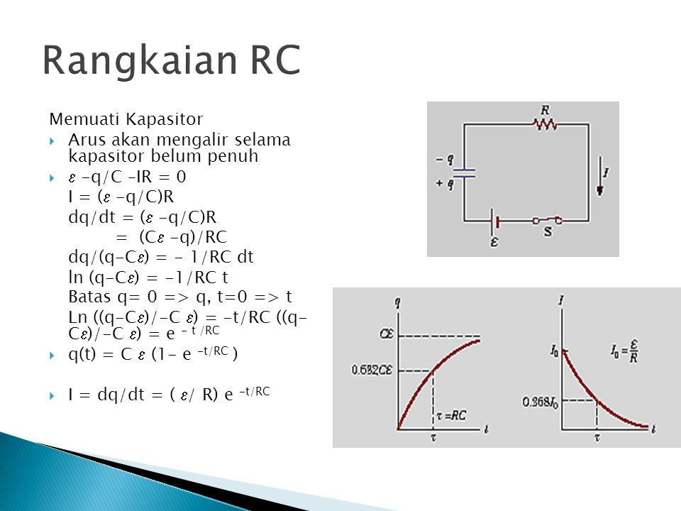 Rangkaian RC Memuati Kapasitor