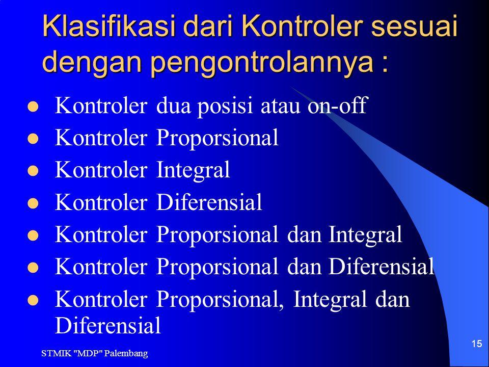 Klasifikasi dari Kontroler sesuai dengan pengontrolannya :
