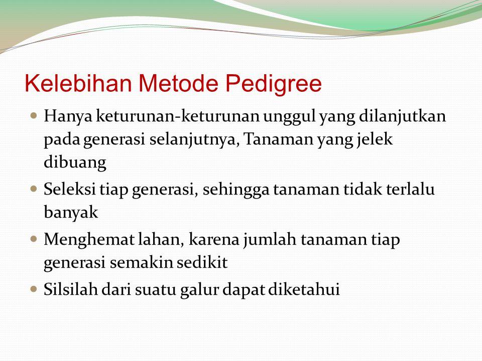 Kelebihan Metode Pedigree
