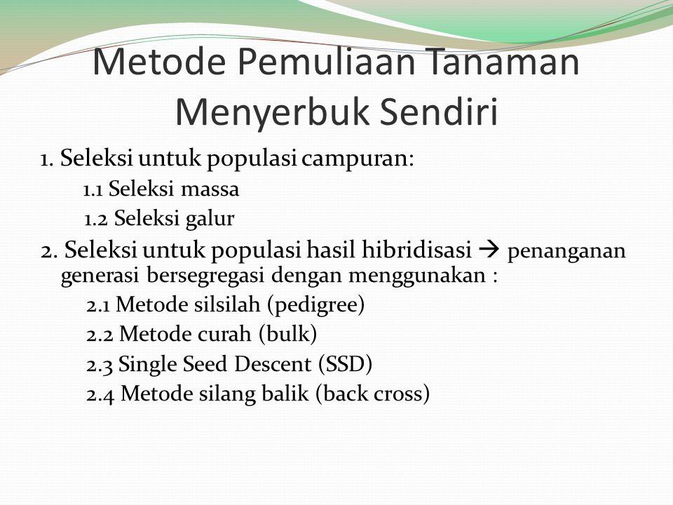 Metode Pemuliaan Tanaman Menyerbuk Sendiri