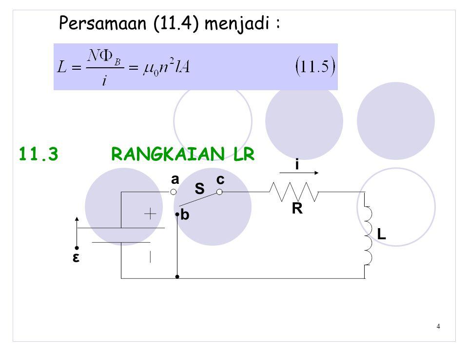 Persamaan (11.4) menjadi : 11.3 RANGKAIAN LR