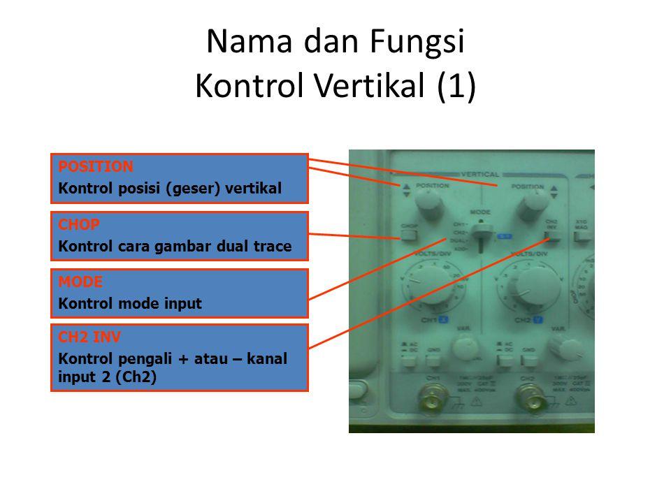 Nama dan Fungsi Kontrol Vertikal (1)