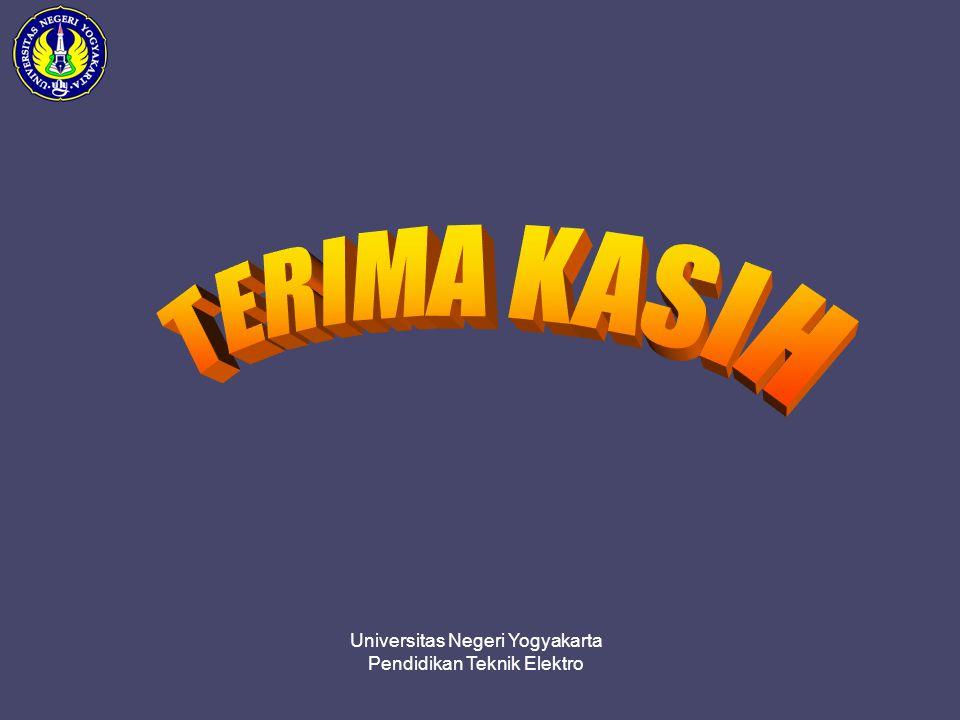 TERIMA KASIH Universitas Negeri Yogyakarta Pendidikan Teknik Elektro