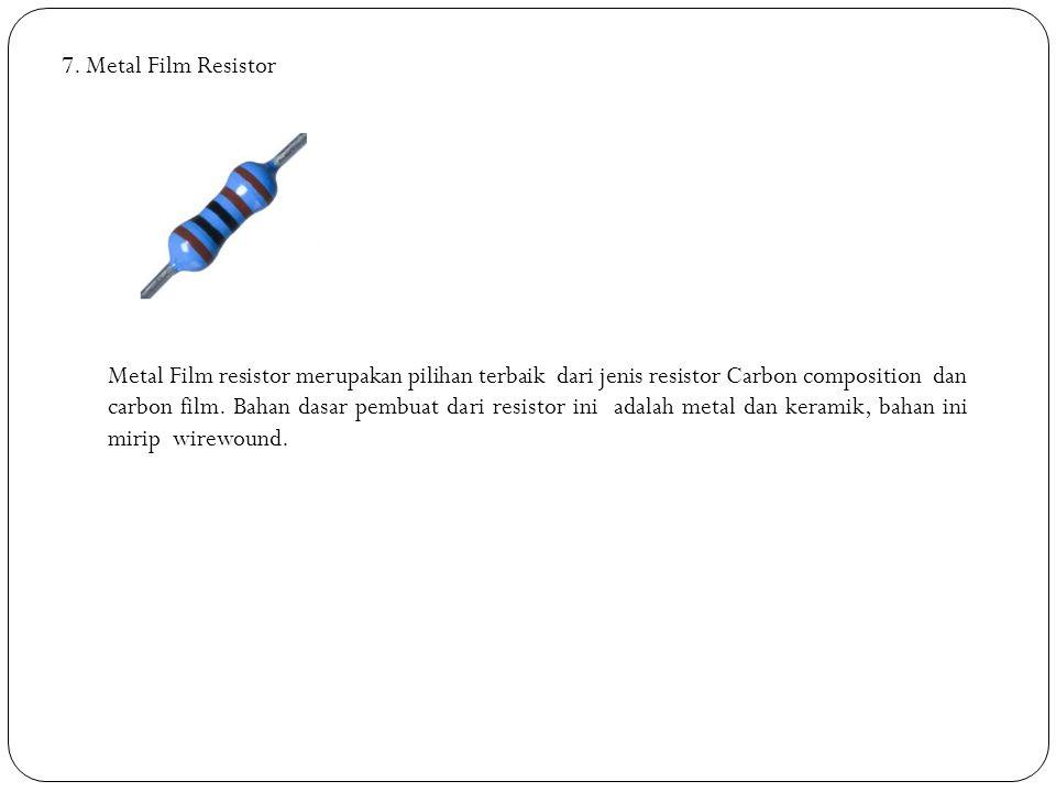7. Metal Film Resistor
