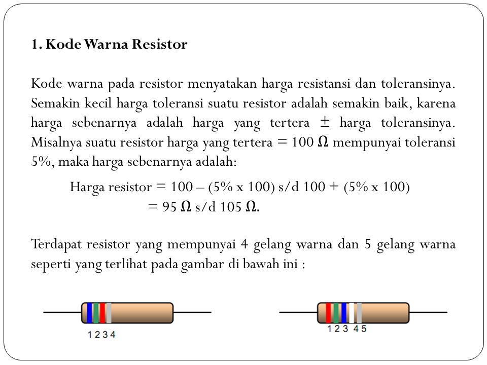 1. Kode Warna Resistor