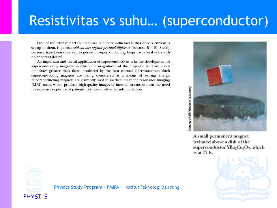 Resistivitas vs suhu… (superconductor)