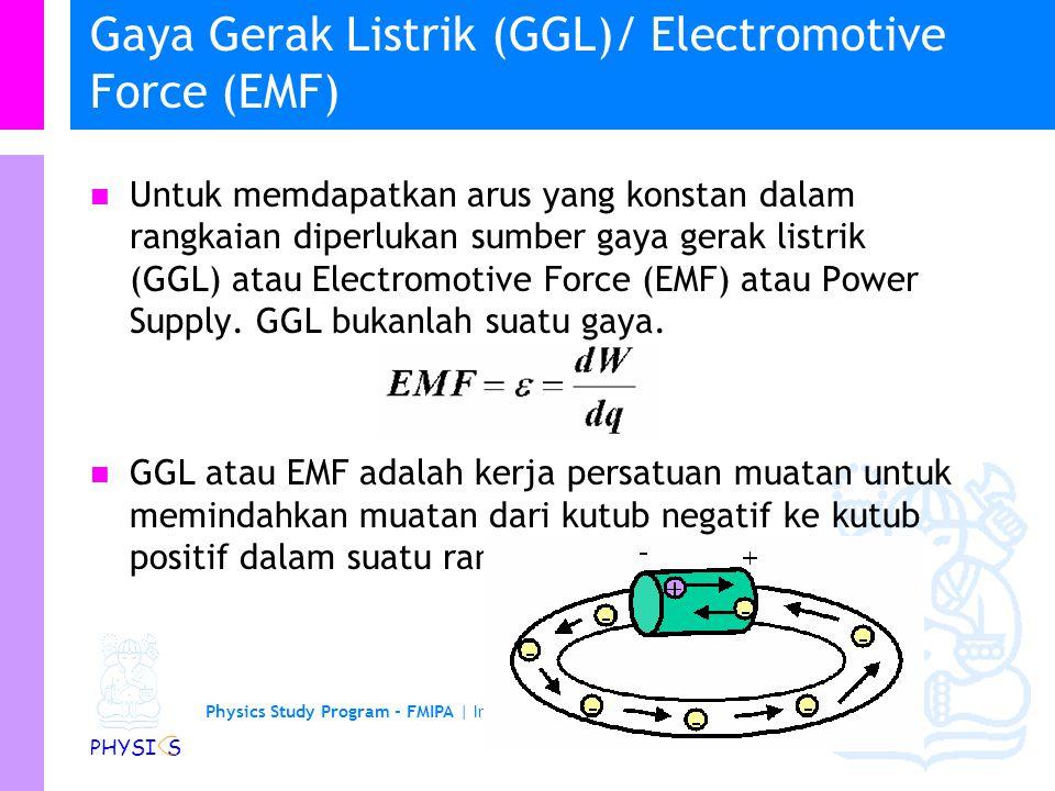 Gaya Gerak Listrik (GGL)/ Electromotive Force (EMF)