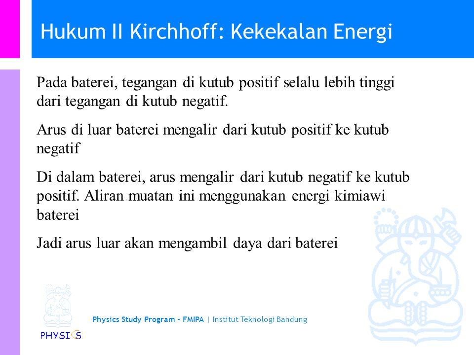 Hukum II Kirchhoff: Kekekalan Energi