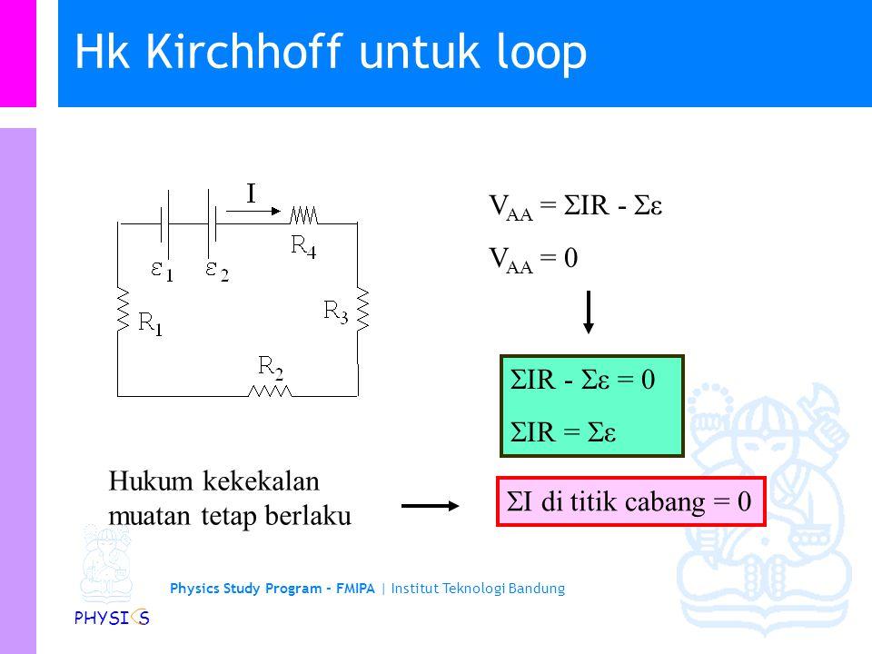 Hk Kirchhoff untuk loop