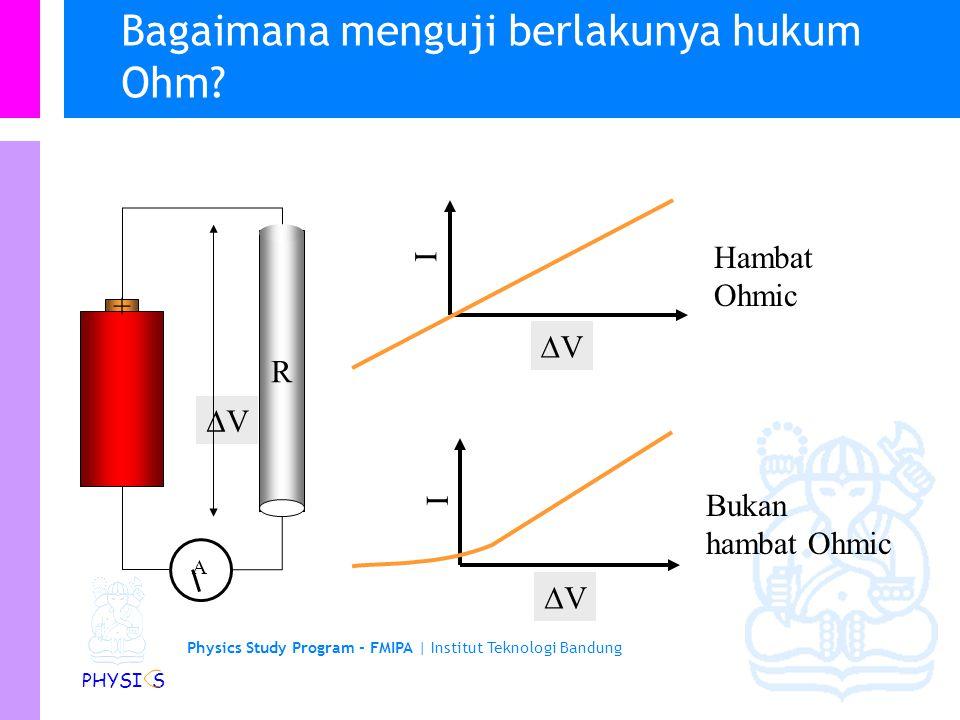 Bagaimana menguji berlakunya hukum Ohm