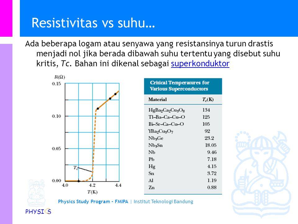 Resistivitas vs suhu…