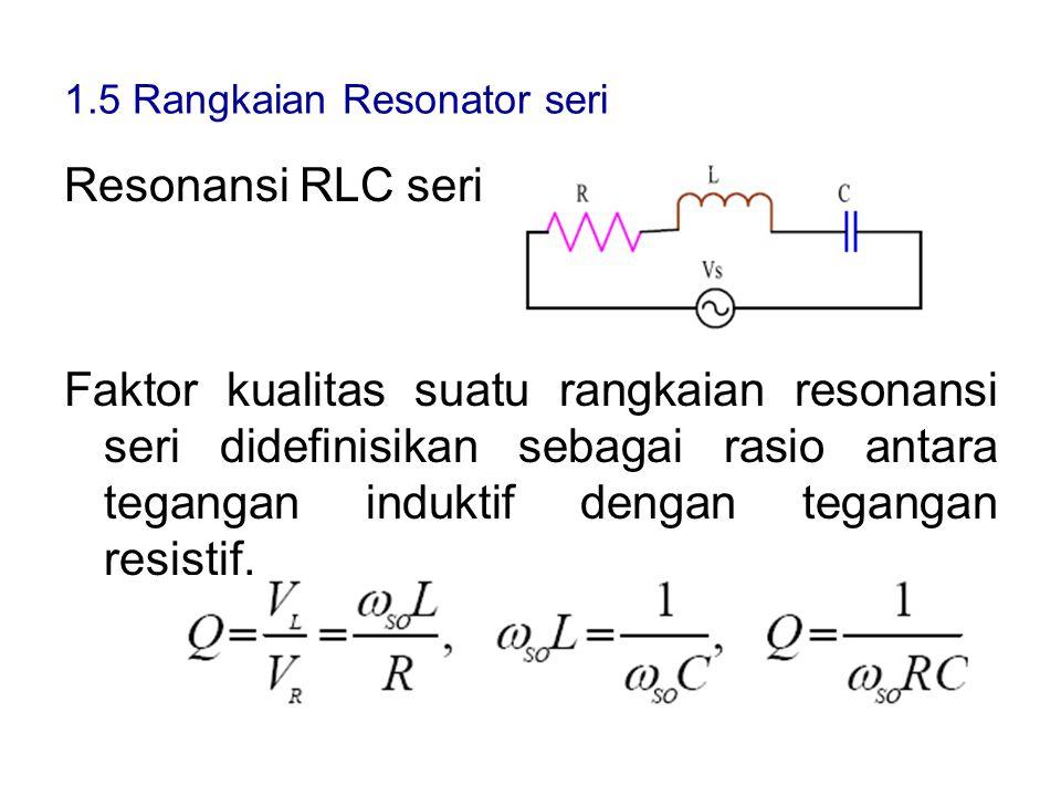 1.5 Rangkaian Resonator seri