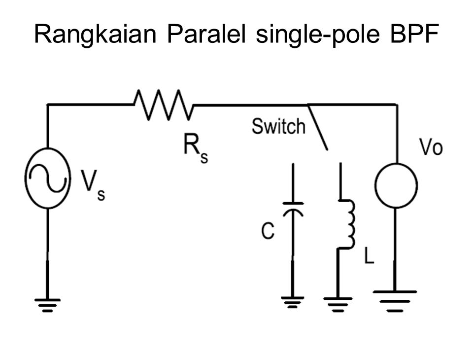 Rangkaian Paralel single-pole BPF