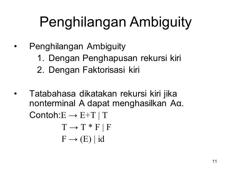 Penghilangan Ambiguity