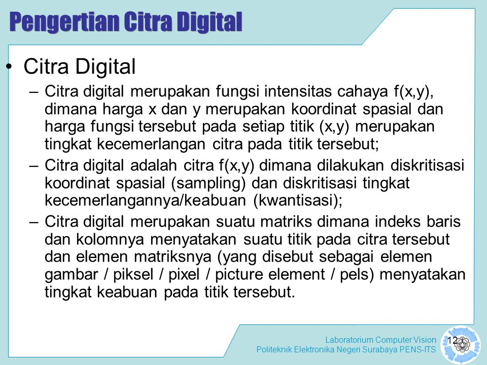 Pengertian Citra Digital