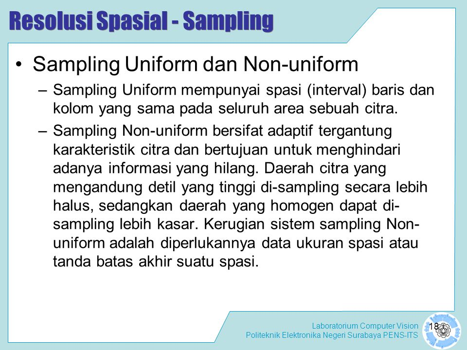 Resolusi Spasial - Sampling