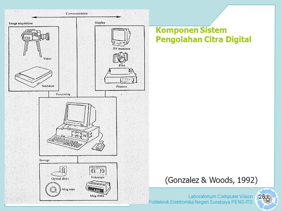 Komponen Sistem Pengolahan Citra Digital
