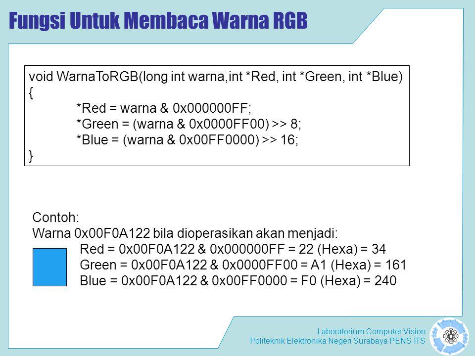 Fungsi Untuk Membaca Warna RGB