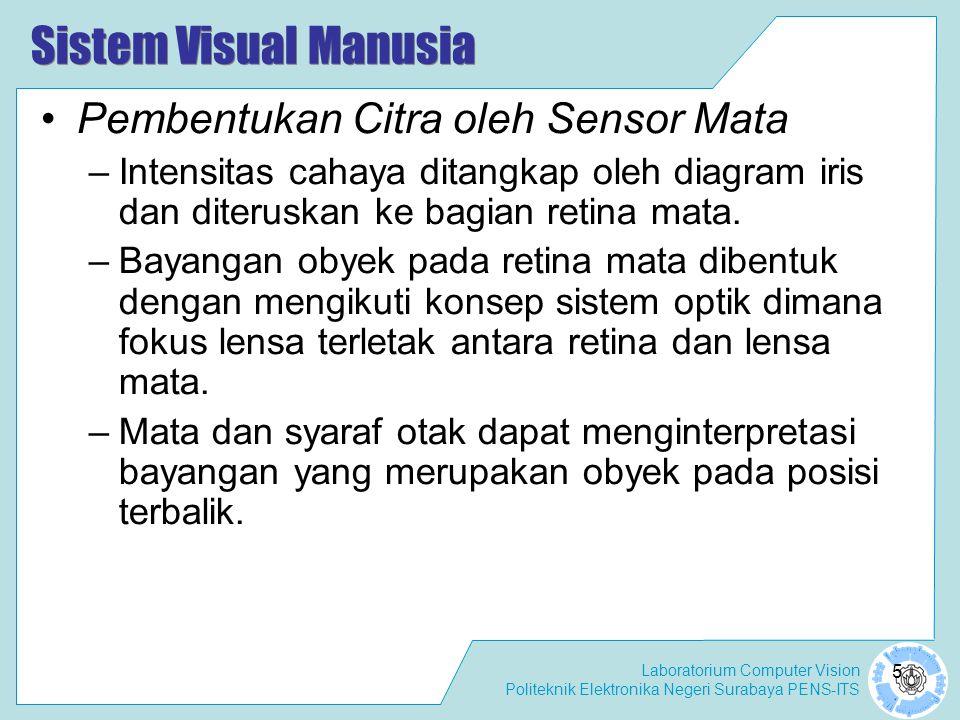 Sistem Visual Manusia Pembentukan Citra oleh Sensor Mata