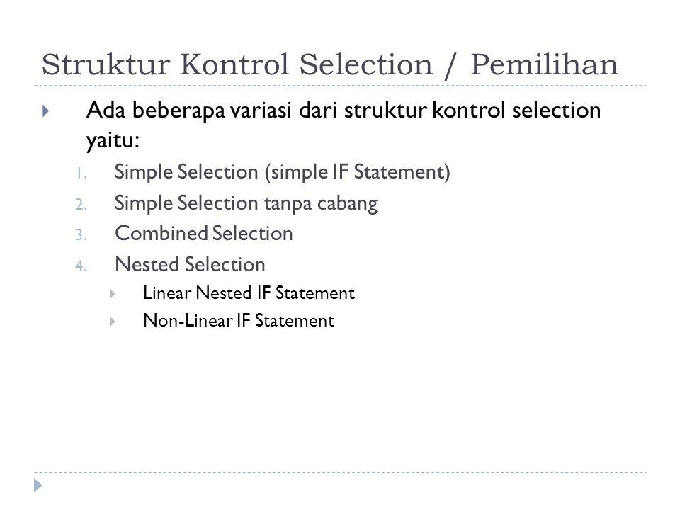 Struktur Kontrol Selection / Pemilihan