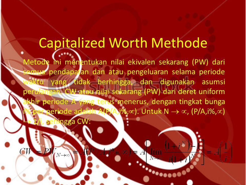 Capitalized Worth Methode