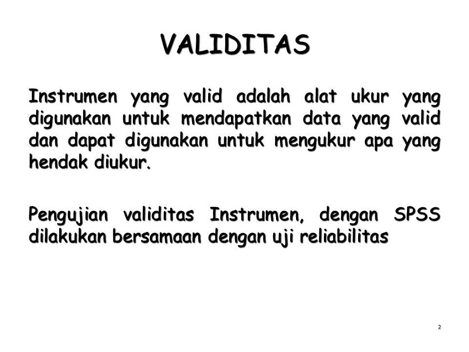 VALIDITAS