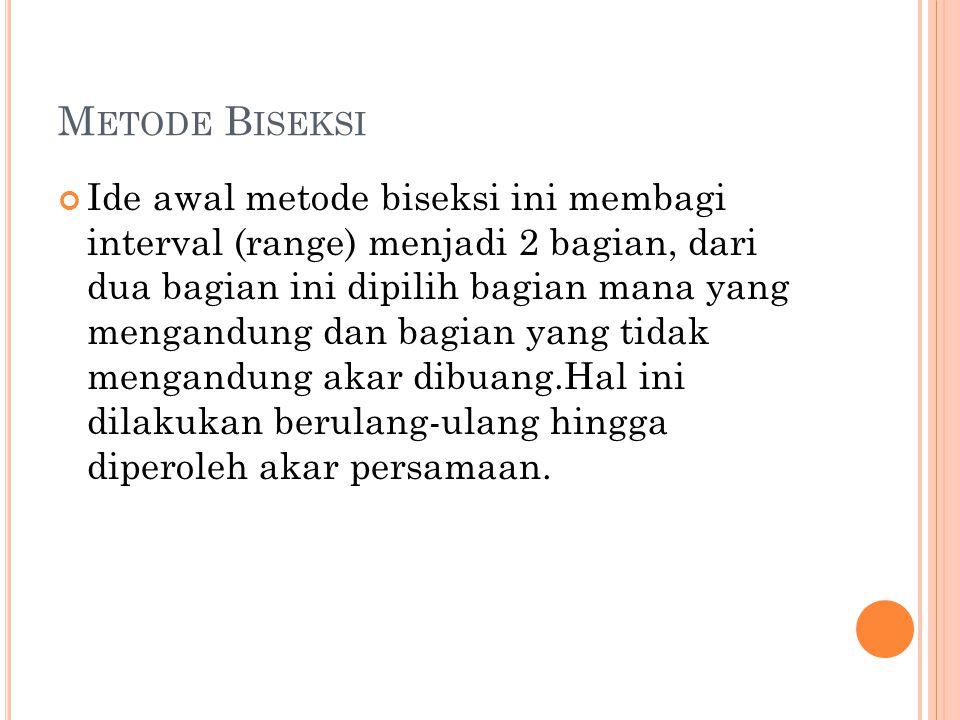Metode Biseksi
